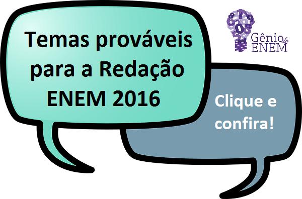 temas prováveis para redação enem 2016