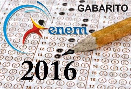 Gabarito Enem 2016