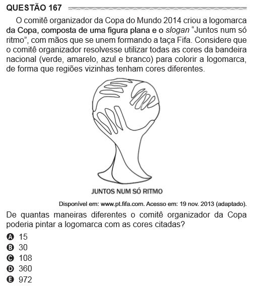 Questão 167 O comitê organizador da copa do mundo 2014 criou a logomarca