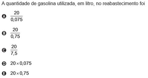 Questão 169 para uma temporada das corridas de formula 1 a capacidade do tanque