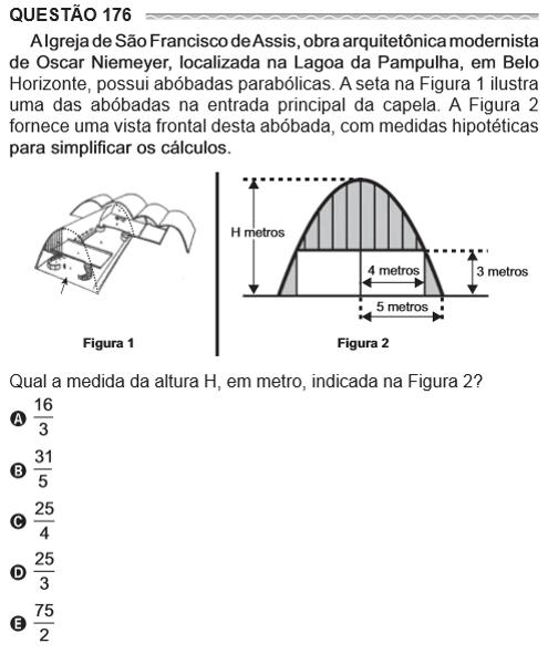 questão 176 A igreja de são Francisco de Assis, obra arquitetônica modernista ...