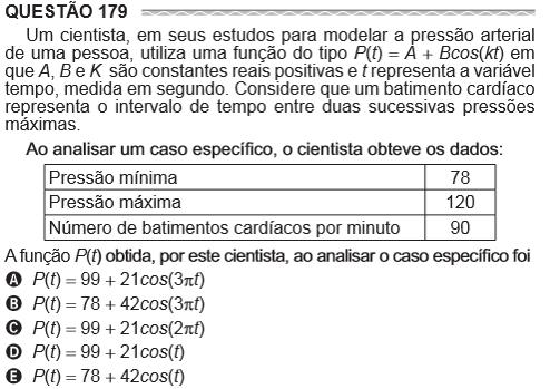 questão 179 Um cientista em seus estudos para modelar a pressão