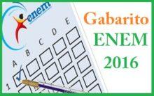 Gabarito Enem 2016 – Oficial e Extraoficial