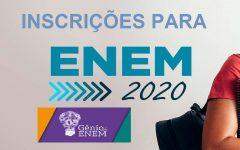 Inscrições Para o Enem 2020  em 11 de Maio